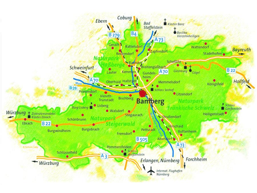 Karte Bamberg Landkarte.Landkreis Bamberg Unser Landkreis
