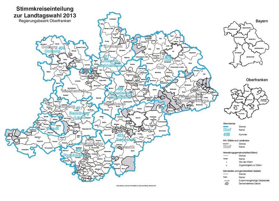 Karte Bamberg Landkarte.Landkreis Bamberg